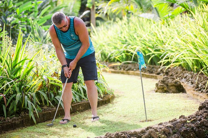 18 Hole Tropical Mini-Golf with swimming in the River, playground access + more