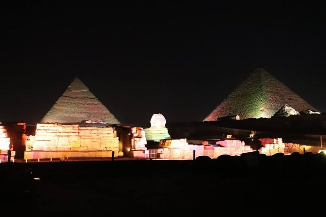 Giza pyramids sphinx and light show from Cairo Giza hotel with expert guide photo 9