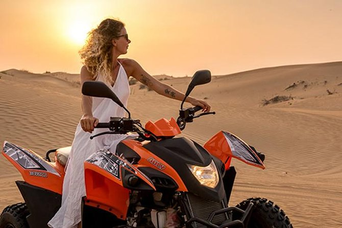 Red Dunes Quad Bike Safari with BBQ & Ferrari world Trip
