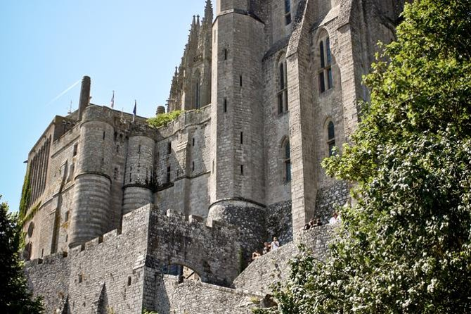 Explore the abbey of Mont St Michel on your private tour from Caen
