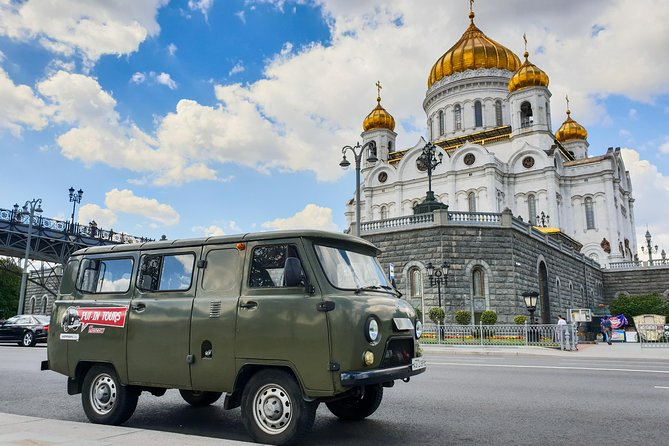 Moscow city tour onboard a classic soviet van