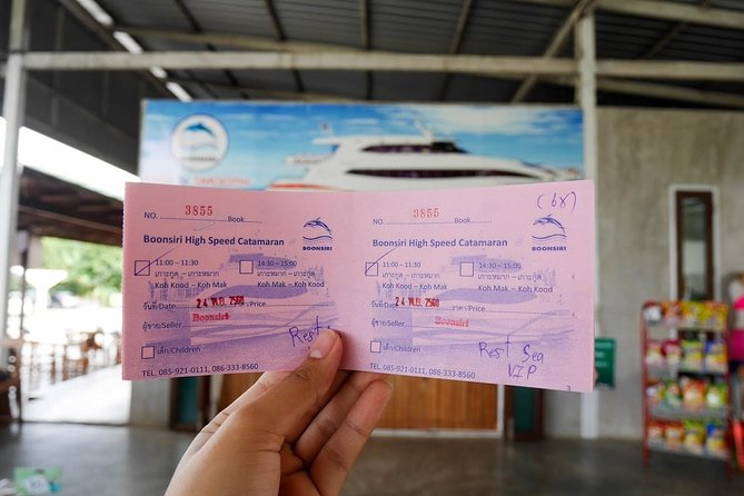 Check-in at the ferry counter and get your boarding ticket