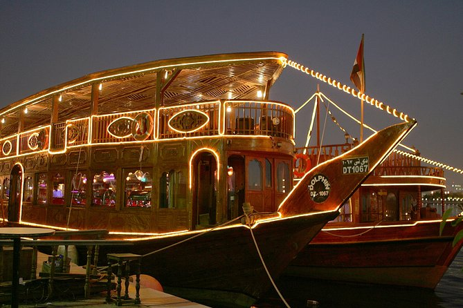 Dhow Cruise Dubai Marina Tour with Buffet Dinner and Live Entertainment