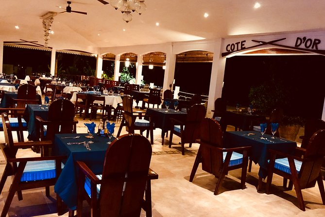 Aperitif and Dinner at the Hotel & Restaurant Cote D'Or Lodge in Anse Volbert