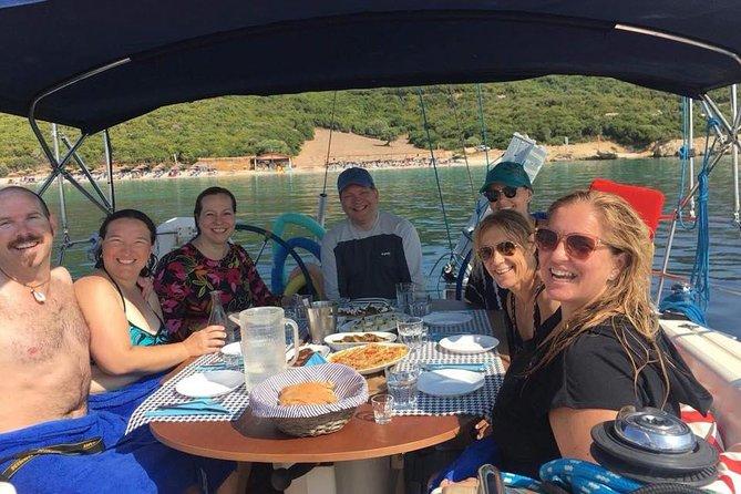 A splendid day sailing around Lefkas