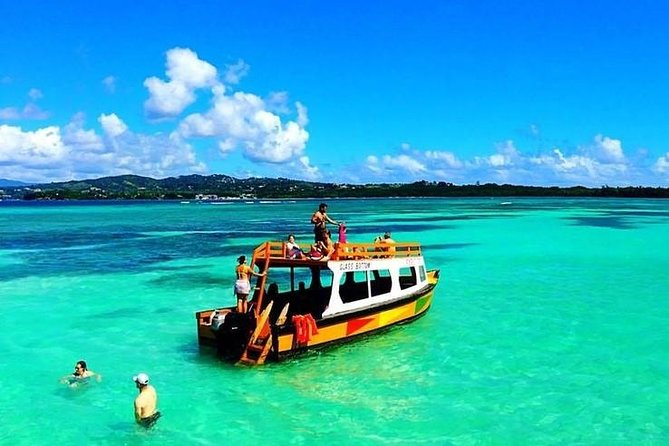 Tobago Buccoo Reef Glass Bottom Boat Cruise and Island Sightseeing Tour