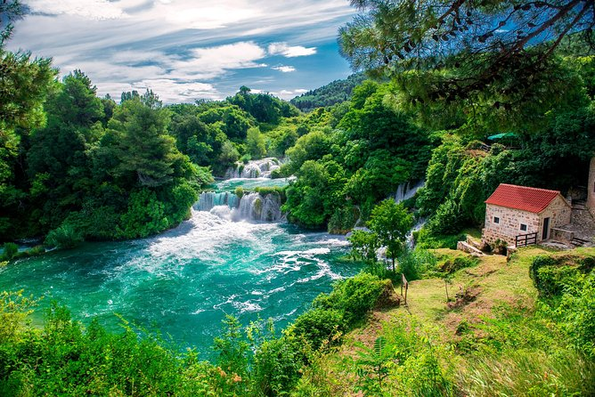 Krka Waterfalls and Sibenik Day Trip Including Wine Tasting from Split