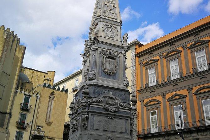 Church and sfogliatella in Naples
