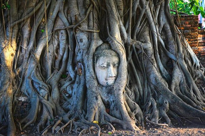 Ayutthaya Temples og Chao Phraya River Cruise tilbage til Bangkok med frokost