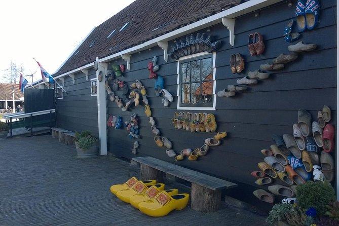 Visit the wooden shoe workshop for a demonstration of clog making.