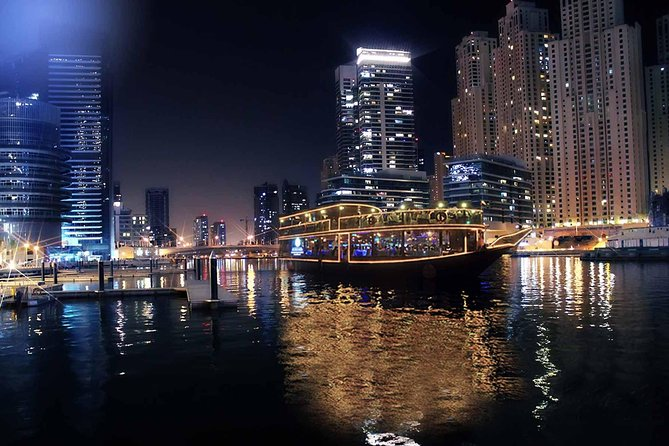 Dubai Marina Dinner Cruise Private Transfers for 1 to 6 people