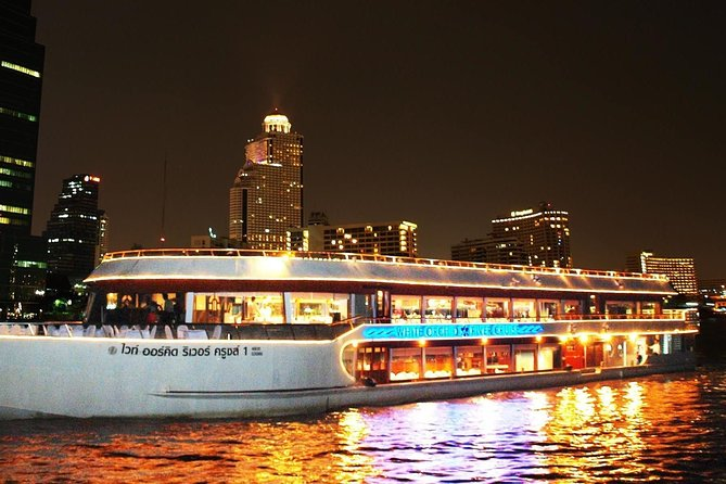 White Orchid Dinner Cruise at Bangkok including Return Transfer & Live Music