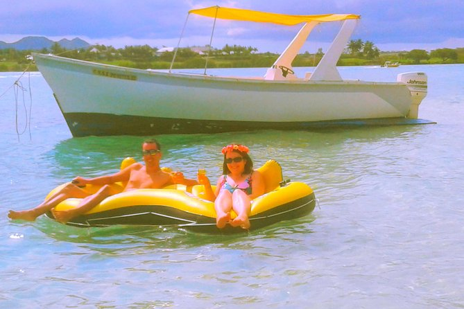 Full day private boat trip to Ile aux Cerfs and G.R.S.E,snorekling in Mauritius