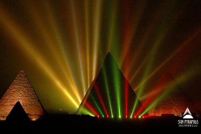 Cairo Layover Tour To Pyramids,Museum,Khan Khalili Bazaar And Sound & Light Show