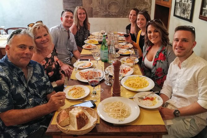 Rome Trastevere Food Tour By Night with Wine Tasting and Guided Sightseeing