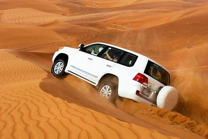 Desert Safari Dubai The Arabian Experience with buffet Dinner,Sandboard & Shows