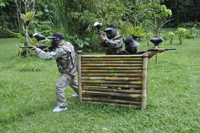 Play paintball on the green jungle Ubud