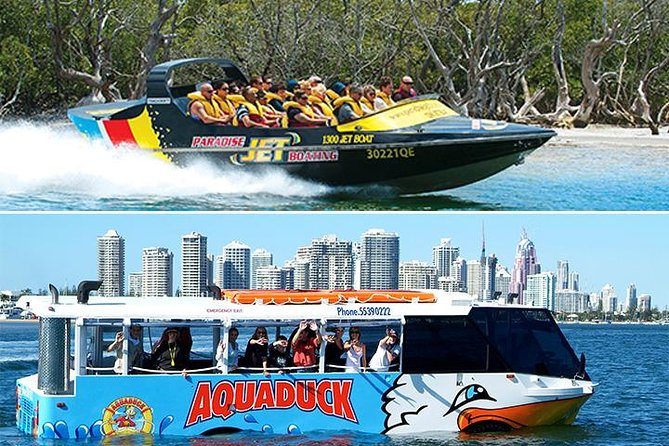 Paradise Jet Boating and Aquaduck Safari Combo with free souvenir pack