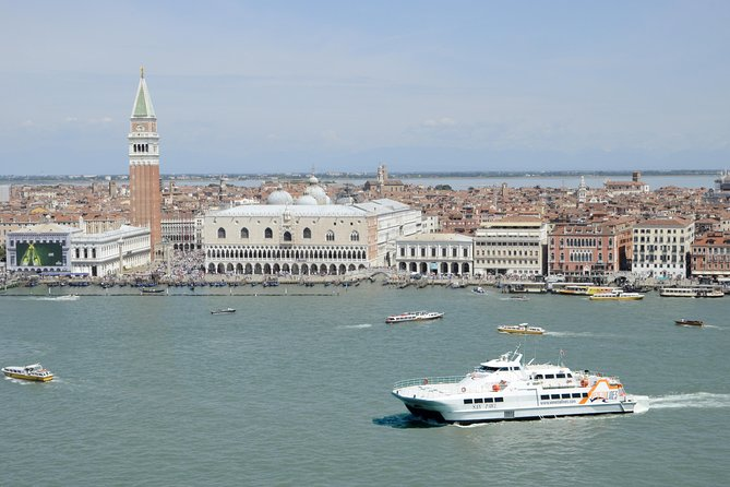 Sailing past St. Mark's square