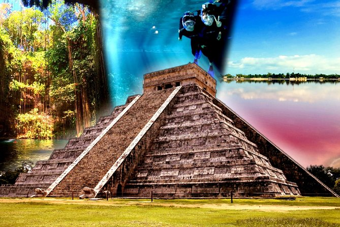4 best spots in Cancún 1day! CHICHÉN ITZÁ, 2CENOTES, PINK LAKE