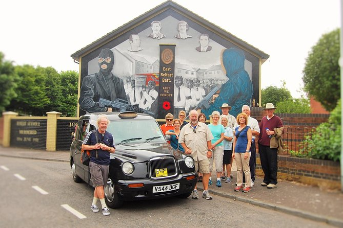 Black Cab IRA & UVF History tour 2hour Belfast mural and peacewalls