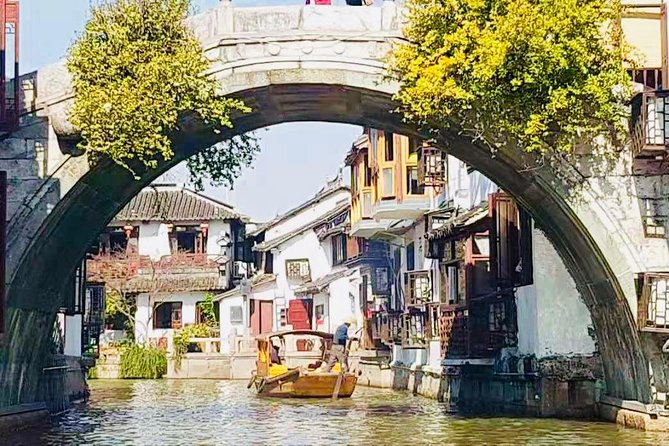 Zhujiajiao Water Town and Shanghai City Highlights Private Day Tour