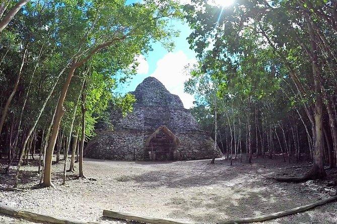 Nohoch Mul Pyramid in Coba plus Cenote swim Private Tour