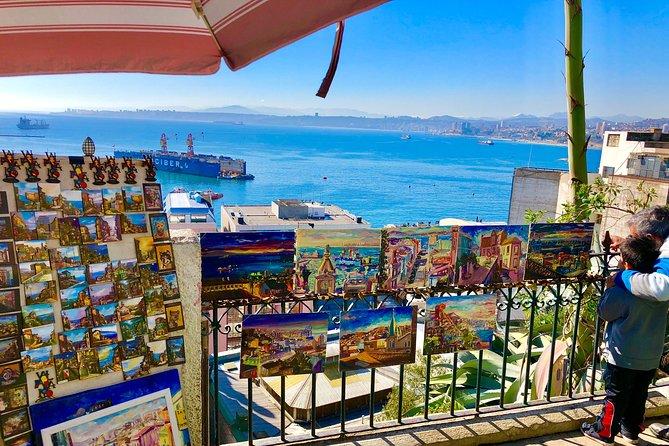 Post-cruise tour to Viña Del Mar, Valparaiso, Wine tasting, drop off in Santiago