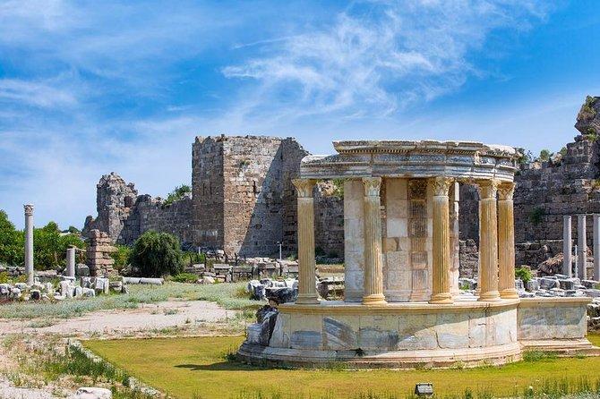 Cidades antigas de Side e Aspendos e Kursunlu Cachoeira de Alanya
