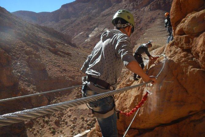 1 Day via ferrata in Todra Gorge - Aventures Verticales Maroc