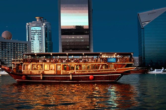 Dubai Creek dhow dinner cruise with Tanoura show