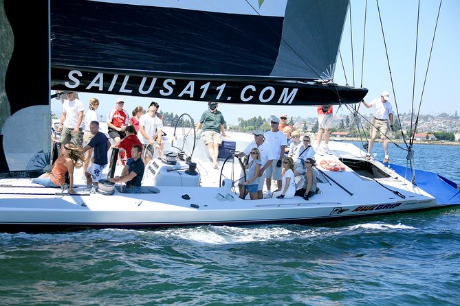 Sail Stars and Stripes America's Cup Racing Yacht in San Diego