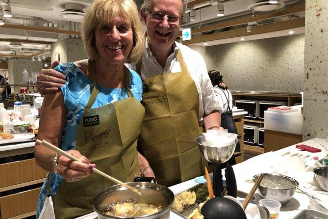 Tempura Frying-lektion på Japanese Culinary School