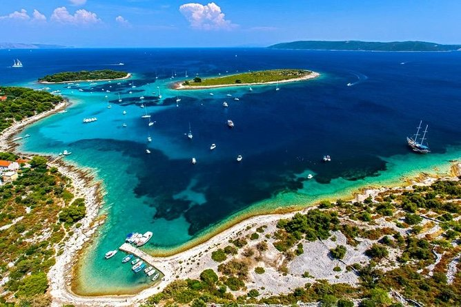 Private 3 islands Tour With Speed boat to Blue Lagoon and Solta from Split or Trogir photo 1
