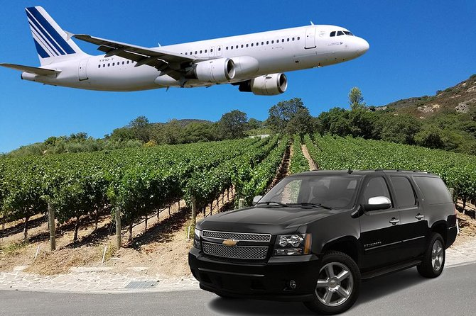 5 Hour - Half-Day Wine Tour With Airport Transfer From Sonoma or Napa
