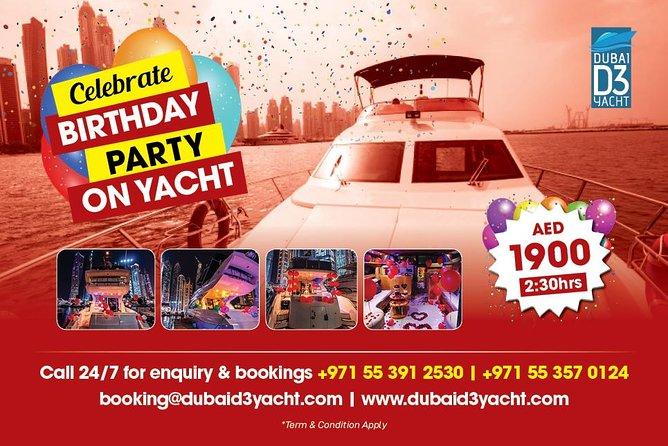 Festeggia la festa di compleanno sullo yacht