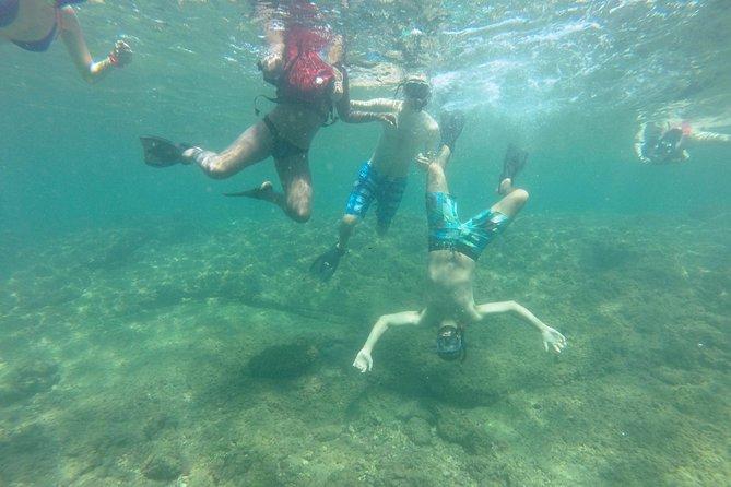 Having fun snorkeling!