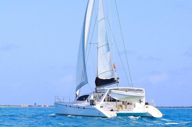 Luxury 47' Catamaran Semi-Private Virgin Islands Snorkel, Sail & Beach Adventure