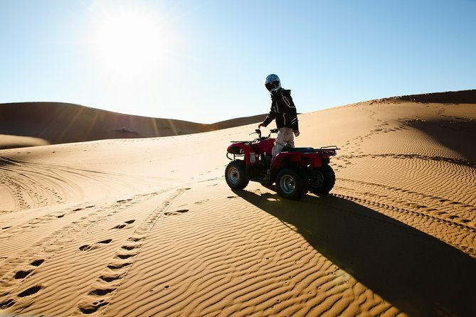 Morning Dubai Quad Bike with Sand boarding and Camel ride