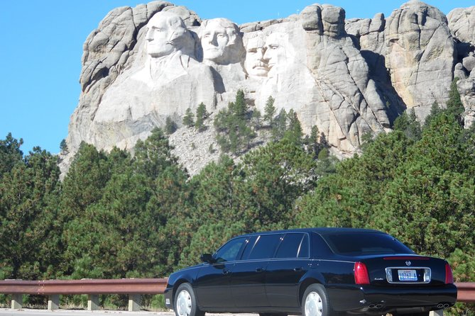 Private limousine tours of Mt Rushmore or Badlands or Devils Tower