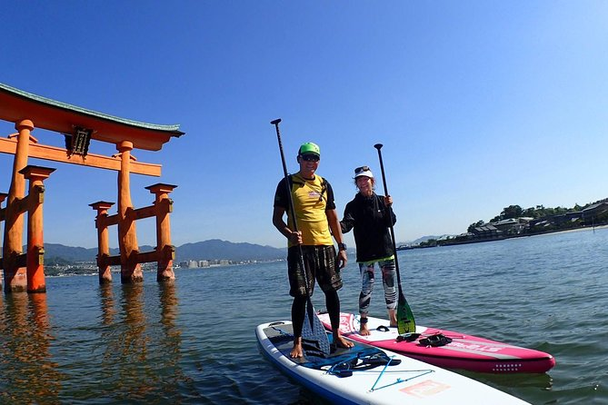 SUP Tour to see the Great Torii Gate of the Itsukushima Shrine Up Close