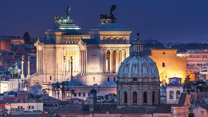 Rome by Night Private Sightseeing Tour| Chauffeured Tour hotel pick up/drop off