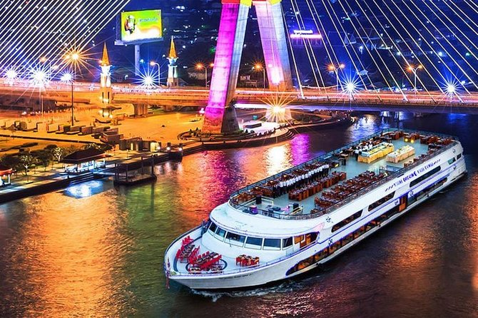 Enjoy Bangkok early evening on a 2 hour dinner cruise along the 'River of Kings'