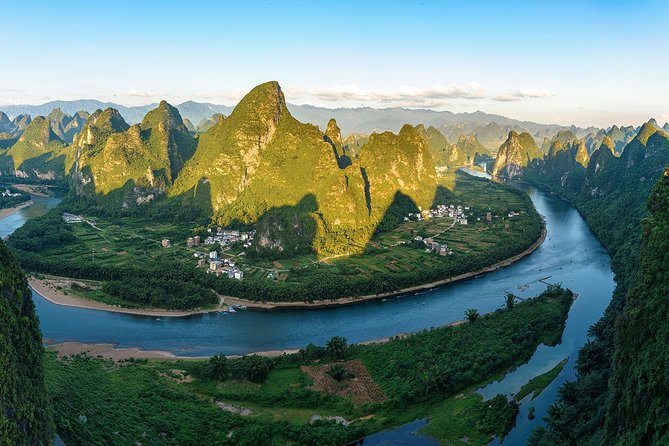 Mini Group Tour: Xianggong Hill, Yulong River Biking and Rafting along Li River
