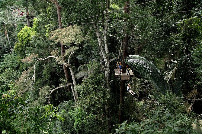 4-hour Flying Hanuman Zipline Adventure from Phuket
