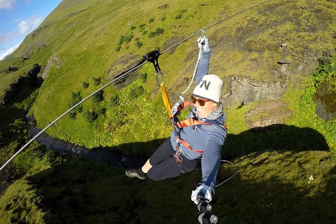 Zipline and Hiking Adventure Tour in Vík