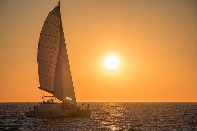 Semi-Private Luxury | Santorini Catamaran Cruise with BBQ on board and Drinks