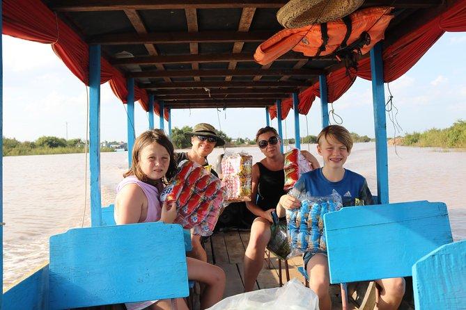 Sonnenuntergang am Tonle Sap See von Siem Reap