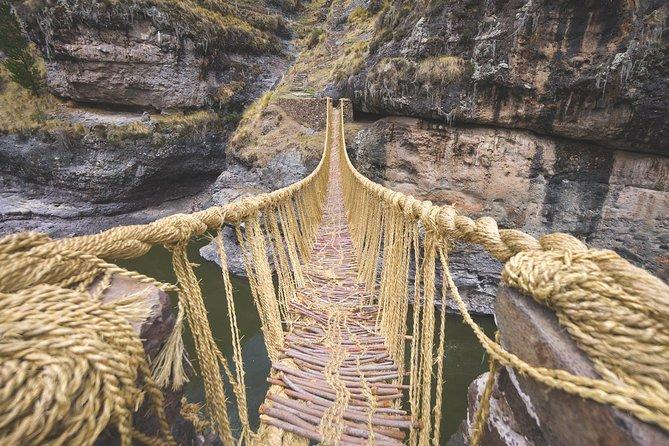 Hanging Inka Bridge Qheswachaca, Four Lagoons & the Qarañahui Prehistoric caves