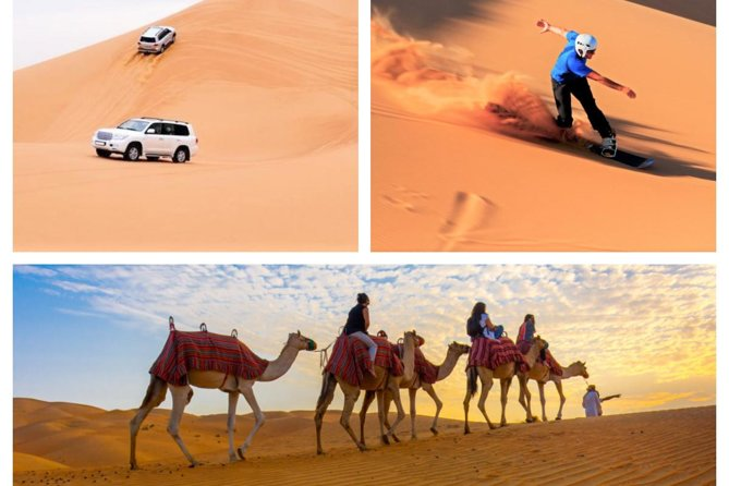 Private Desert Safari Dune Bashing,Camel Ride,Sand Boarding ,Inland Sea Visit